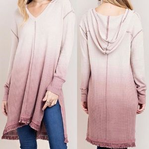 Kori | Waffle Knit Hooded Dress | Small